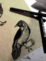 Another Bird! Inktober 11 by Rhythmpaws