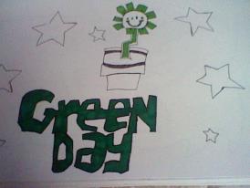 Green Day Kerplunk Flower by GdeeeeLovr96