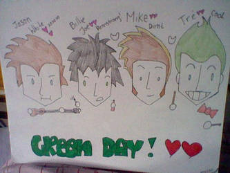 Green Day minus Jason Freese and Jeff Matika by GdeeeeLovr96