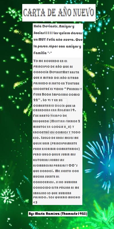 Carta De Ano Nuevo By Thomarie1923 On Deviantart