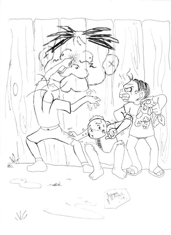Turma da monica Teen sketch by Modestoru