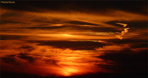 sunset with clouds 2