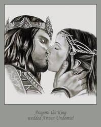 aragorn and arwen by sirideain