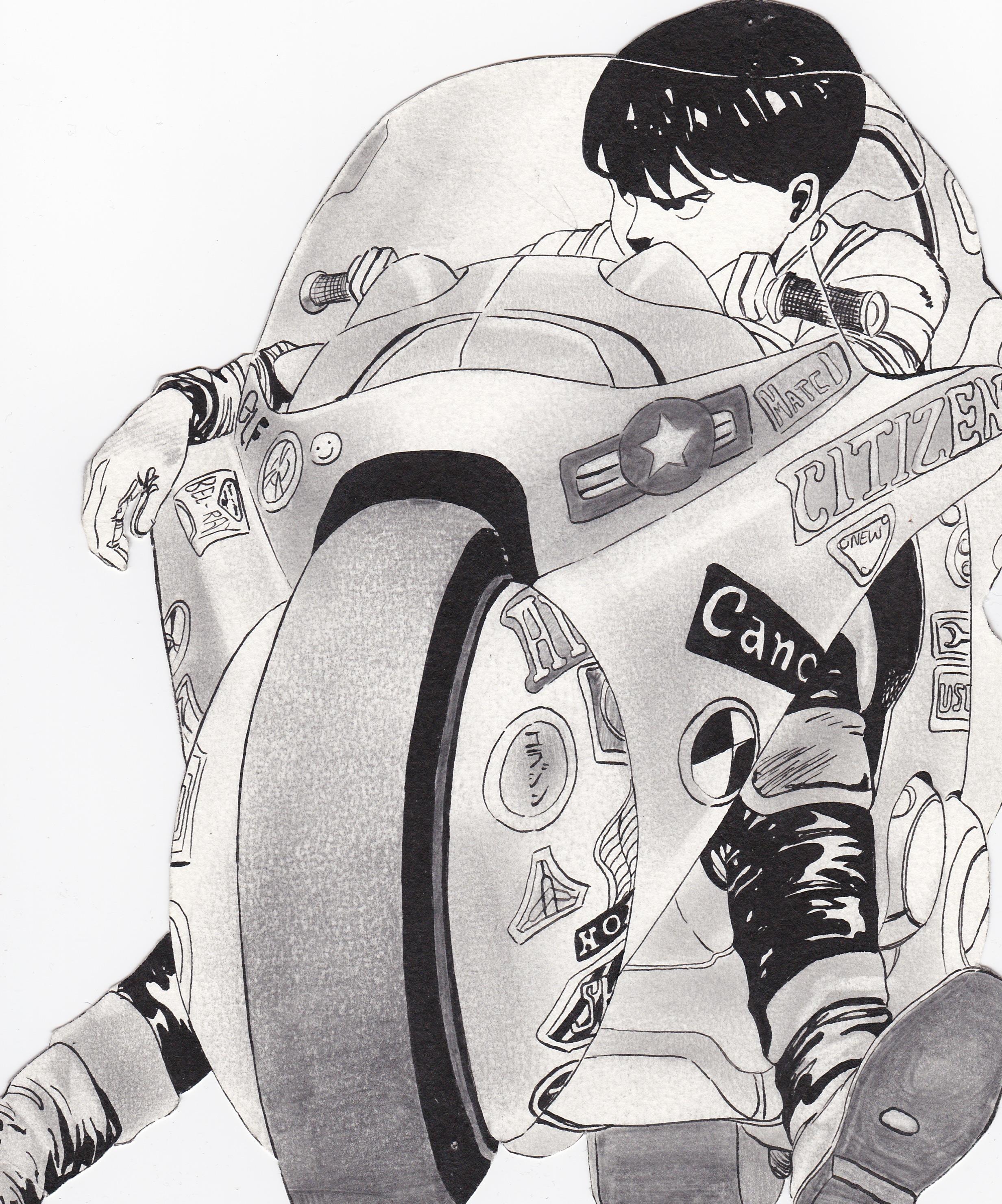 Akira Kaneda Riding Bike 2 By Meek San On Deviantart