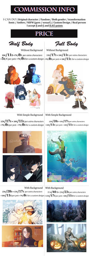 Commission Info - OPEN - NEW PRICES
