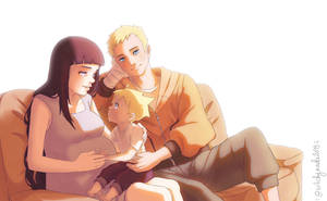 Naruto's little Family by WitchyNade