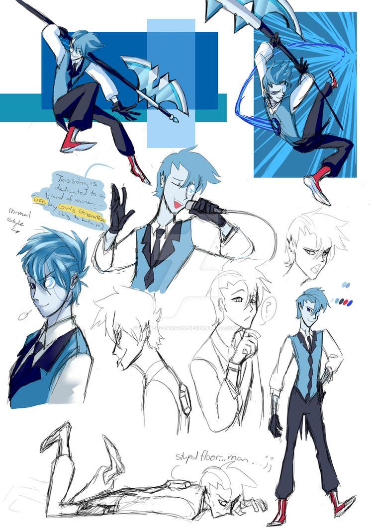 Steven Universe OC: Sapphire Blue by WaterzDragon