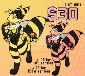 Bumble Bee Renamon - OPEN ADOPTABLE