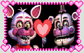 Funtime Freddy x Funtime Foxy Stamp by GoldMareFusion