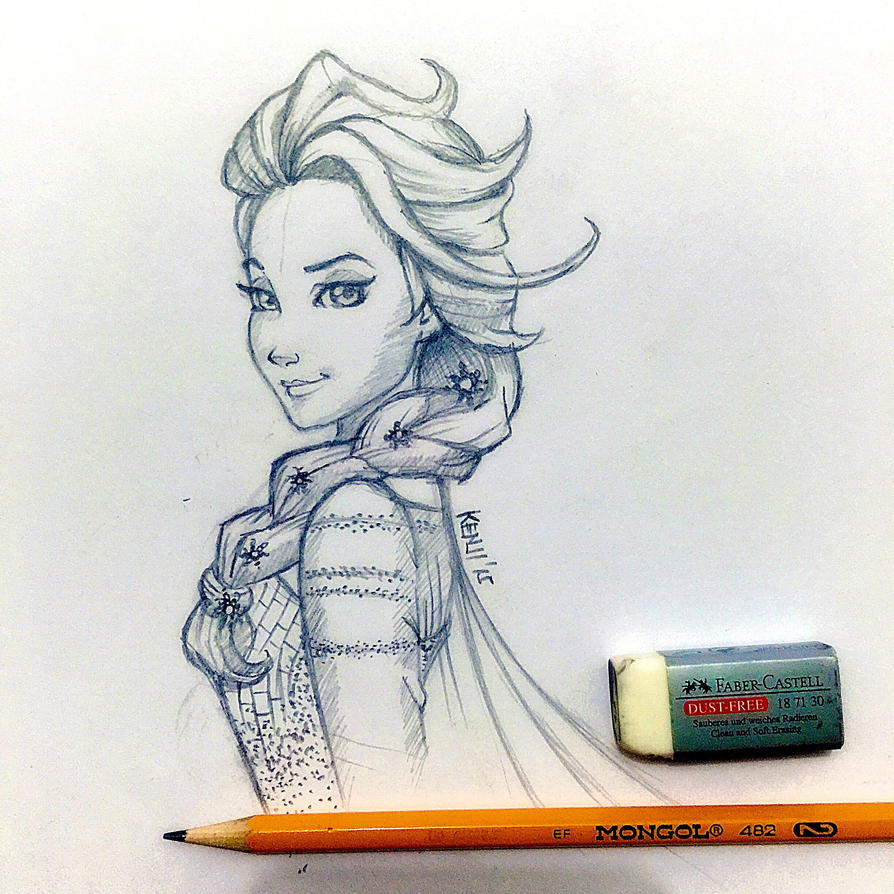 Daily Doodle 3: Elsa by KenjiArts