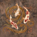 Koi Fish - Marquetry