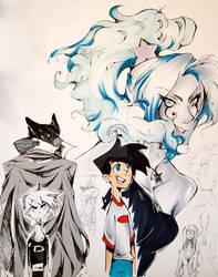 Danny Phantom doodles by InkGirl-san
