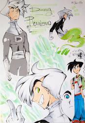 Danny Phantom doodles 2 by InkGirl-san