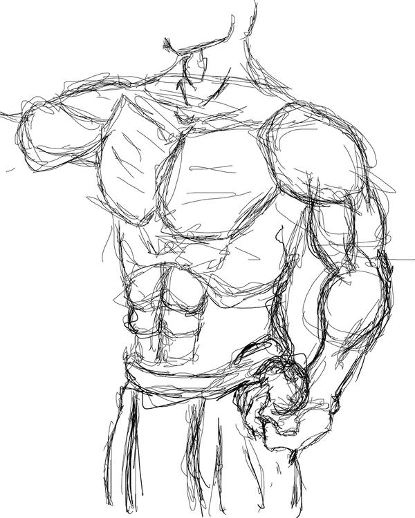 Misc Male Anatomy Sketch 01 by Planes on DeviantArt