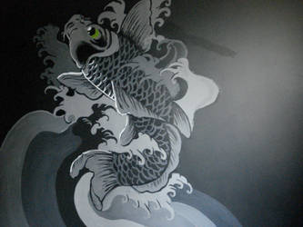 Koi Fish Mural by ChelseaSavage