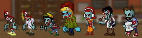 Hipster Zombies - Damaged by Democritus