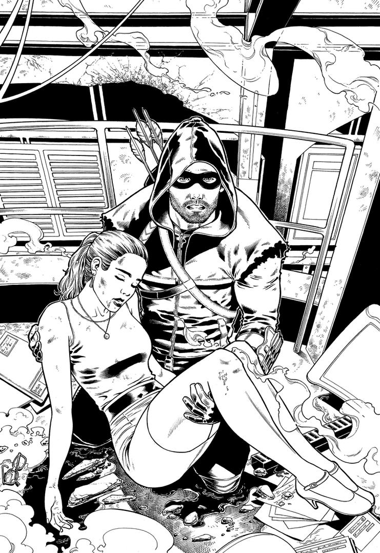 Arrow Pinup BW DS Low by derlissantacruz