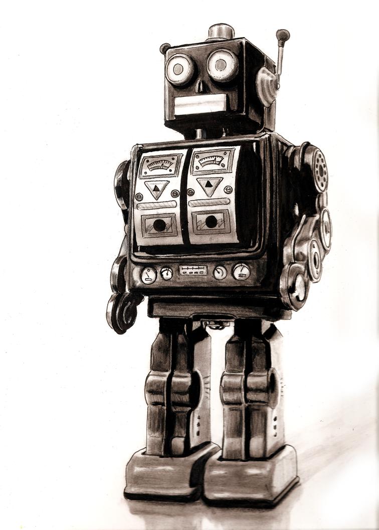 Vintage robot good scan by jamesboots on DeviantArt