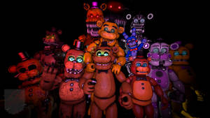 All Freddy Versions Poster sfm by Purpleman88