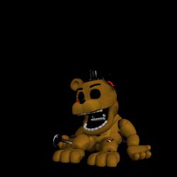 Adventure Whitered Golden Freddy