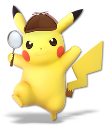 Detective Pikachu(Super Smash Bros Ultimate Edit) by Purpleman88