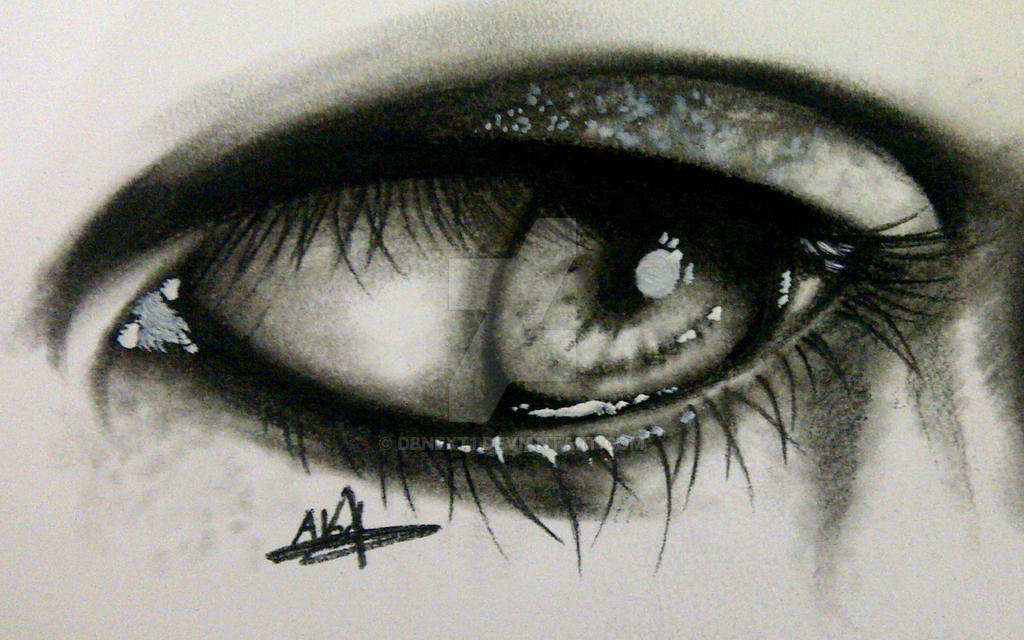 Eye drawing ( charcoal ) by DBNext1 on DeviantArt