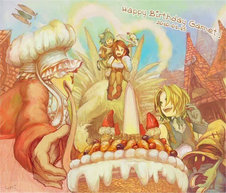Delivery Moogle Birthday Card Final Fantasy Themed: FFIX:Happy Birthday Garnet By Sumi0060 On DeviantArt