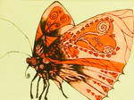 Butterfly with little hearts on its wings