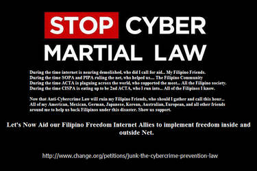 STOP CYBER MARTIAL LAW by RJAce1014