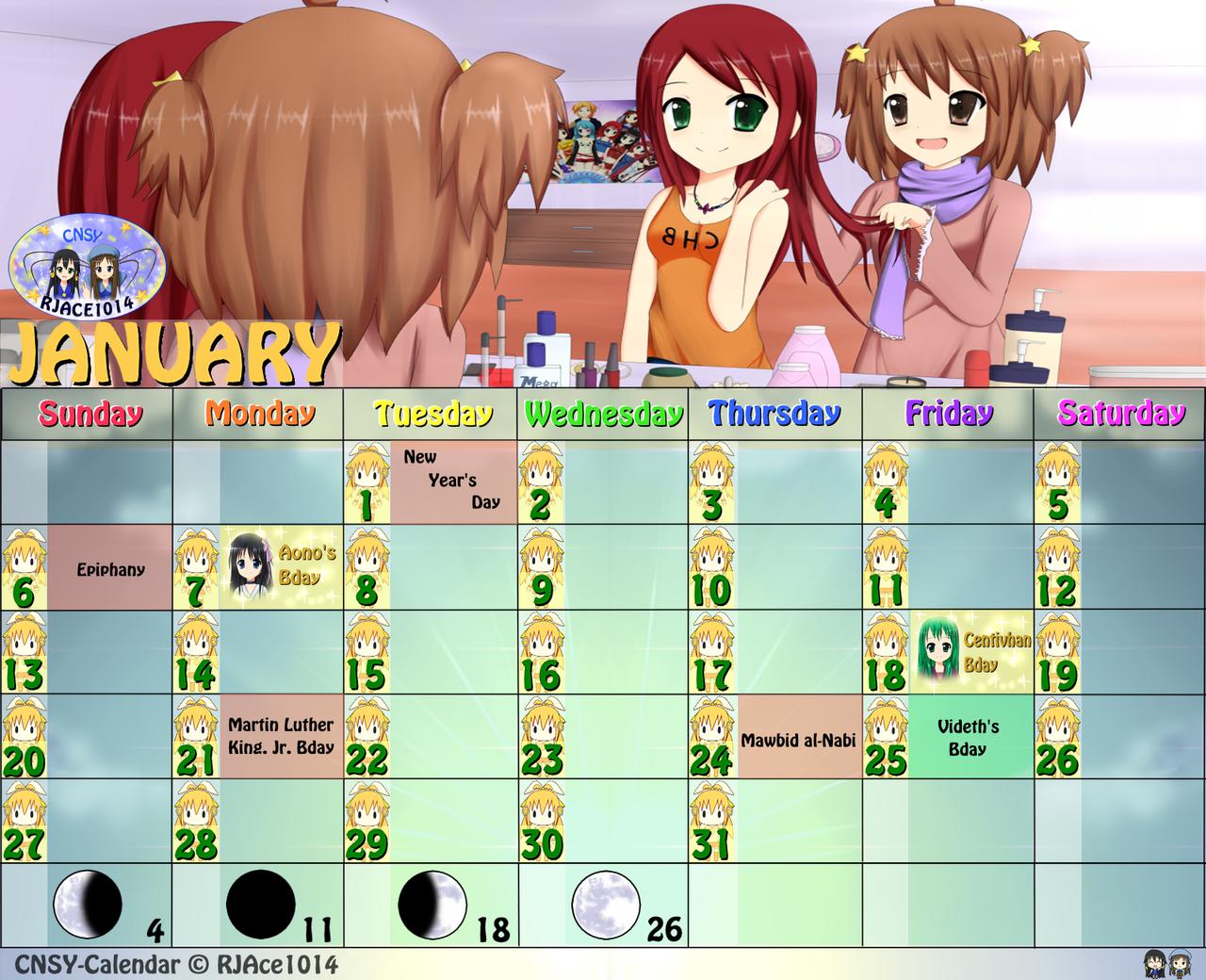 CNSY Calendar - January by RJAce1014