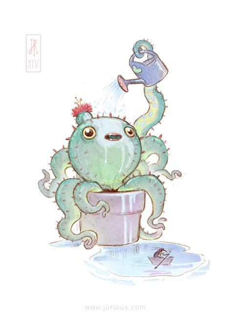 Cactopus by jorioux