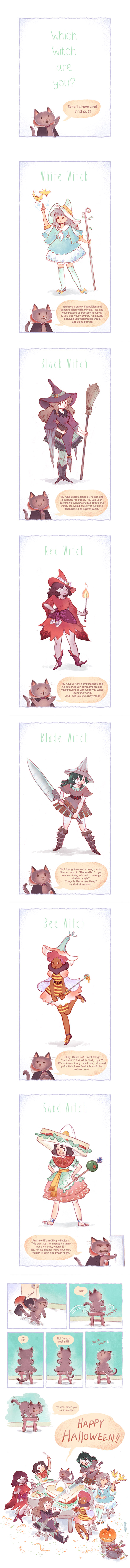 Which Witch: A  Halloween Comic by jorioux