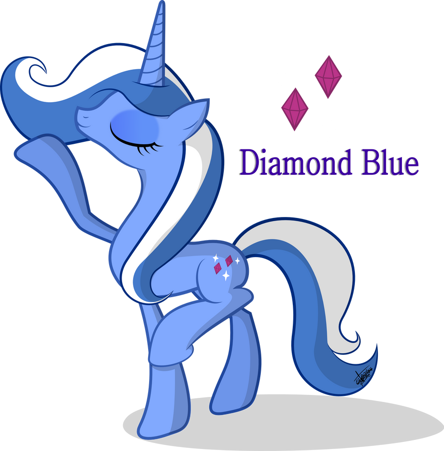 Muestranos tus OC Diamond_blue_by_frozenfish696-d61322o