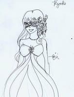 FandFIII: Masque Ball Kyoko by littlemissmarikit