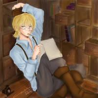 Armin Arlert: Genius At Work by littlemissmarikit