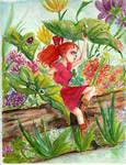 Arriety in the Flower Garden