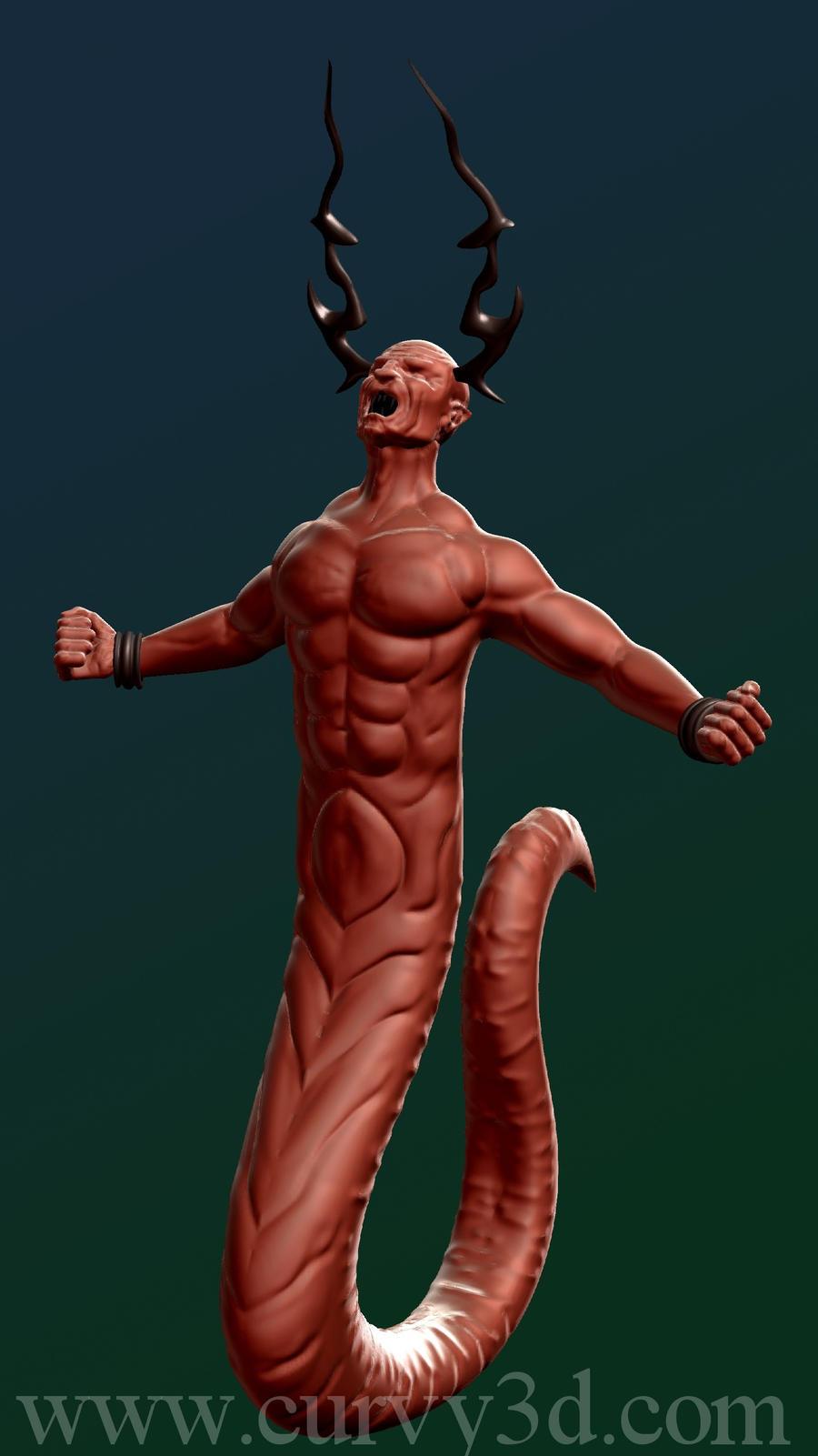 Snake Demon by Curvy3D