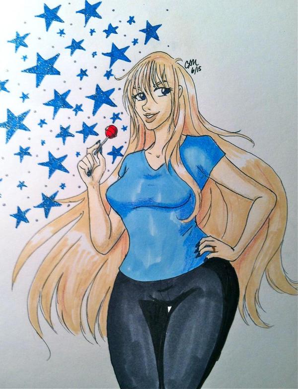 Melissa in Blue by gatta-demonia