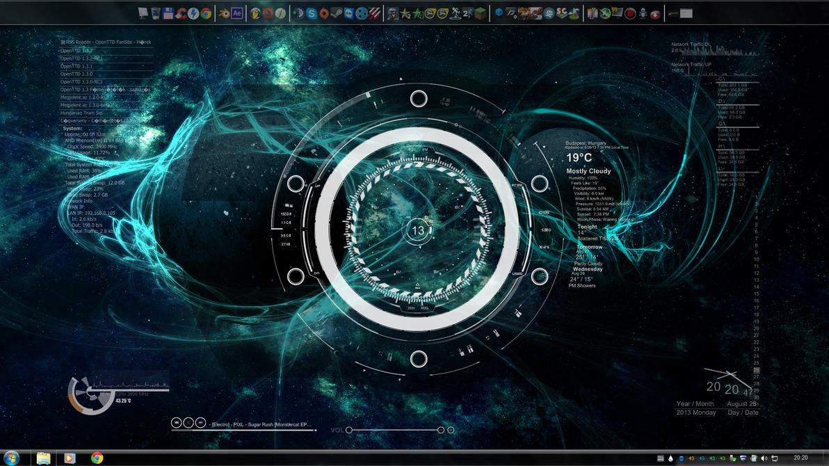 Windows 7 space theme by legekka on deviantart - Windows 7 space wallpaper ...