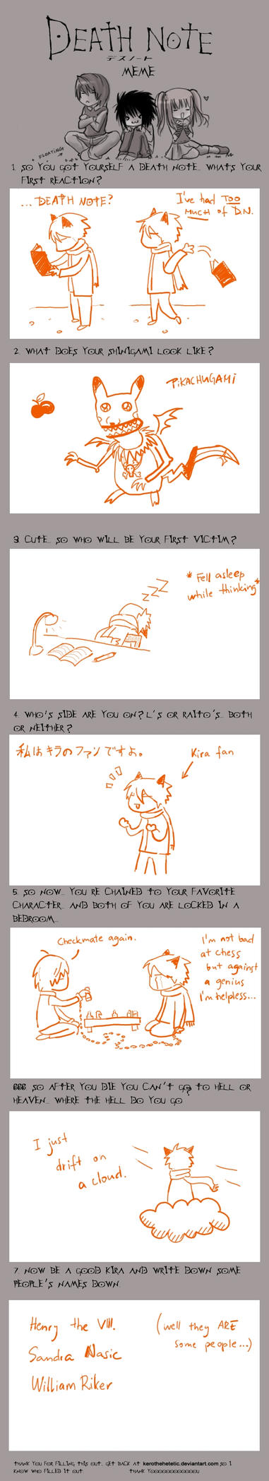 The Death Note meme by KitsuneBara