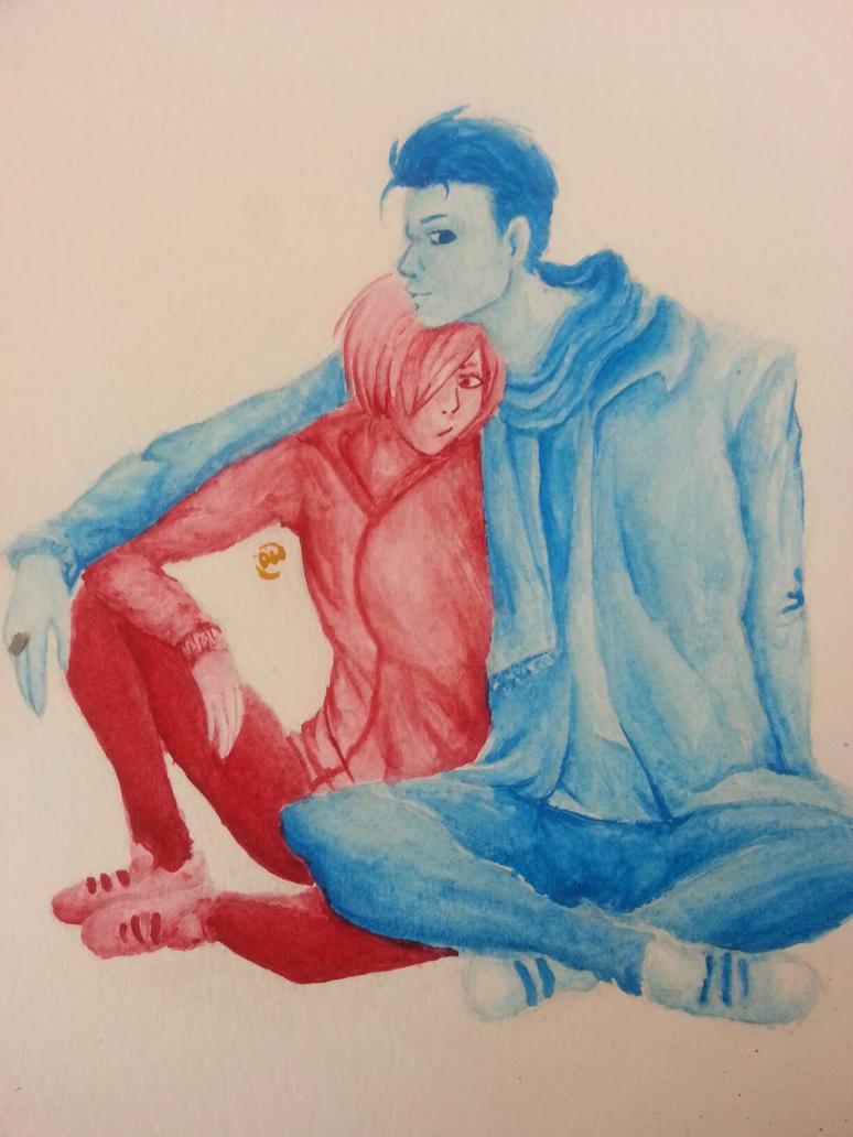 Yurio and Otabek! by Theliquidcrayfish