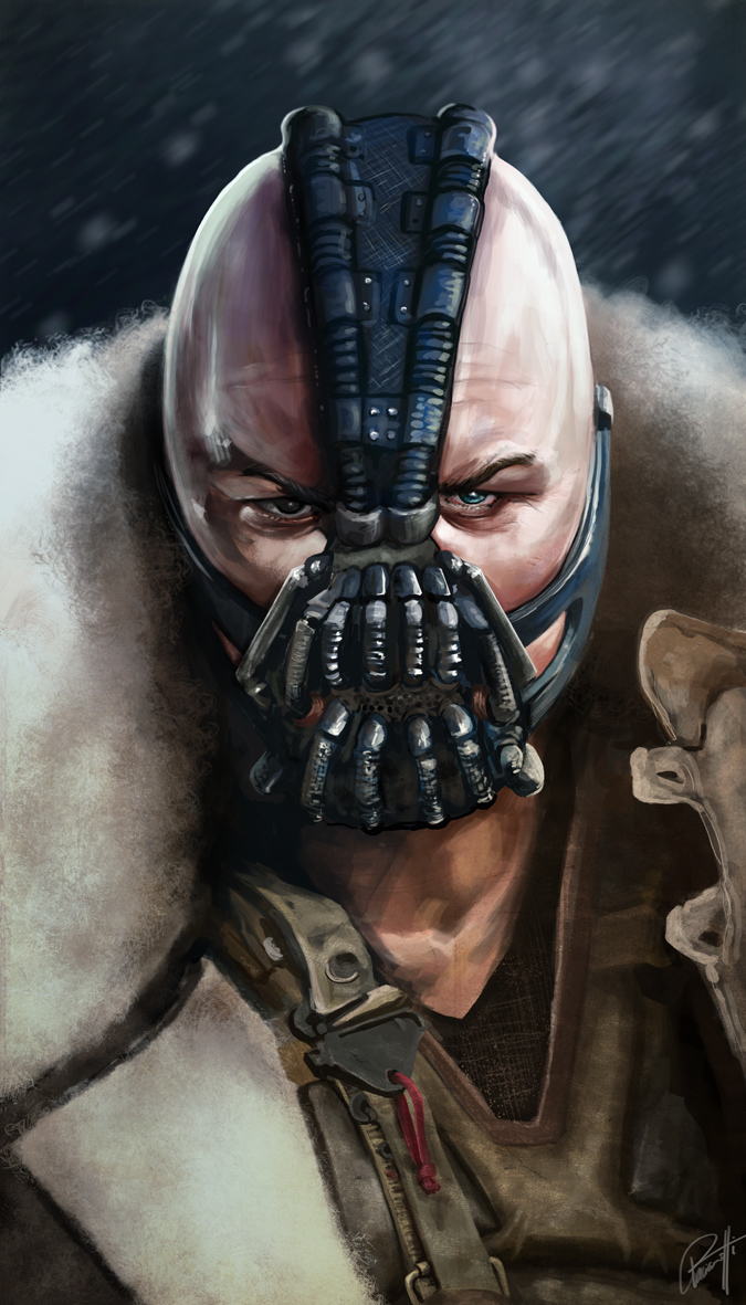 Bane TDKR Tom Hardy The Dark Knight Rises by le0arts