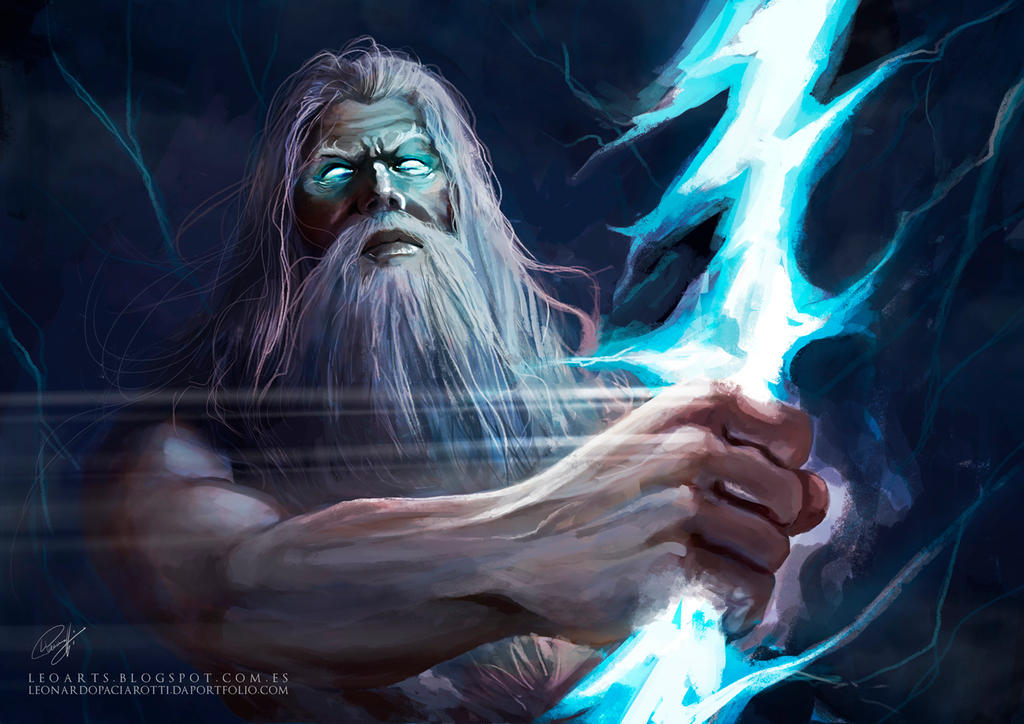 Zeus Trueno Guerra De Mitos  Zeus Digital Painting