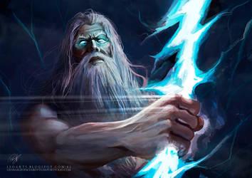 Zeus Trueno Guerra De Mitos. Thunder of Zeus. by le0arts
