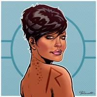 Rihanna art illustration by le0arts