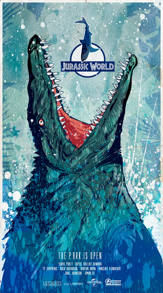 Jurassic World (2015) poster art by le0arts