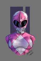Mighty Morphin Power Rangers pink color by le0arts