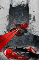 Batman v Superman: Dawn of Justice poster by le0arts