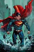 Man of Steel, Superman. Dc Comics. Colors v.1 by le0arts