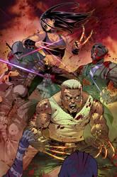 LOGAN X-23 cover (colors) Marvel by le0arts